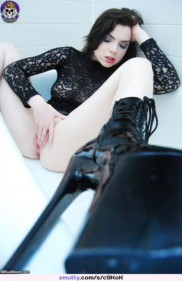 did you cum in my ass Boots, Fingeringpussy, Fishnet, Gloves, Goth, Gothic, Heels, Pale, Pierced, Pussy, Razorcandi, Spikedcollar, Spikes, Tattooed, Tits