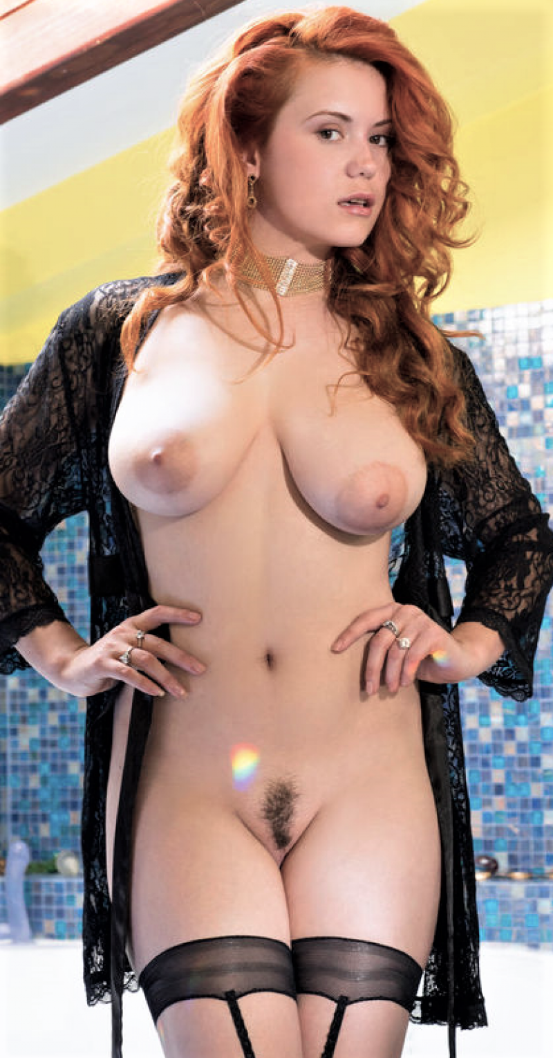 redhead girl rides on the sybian