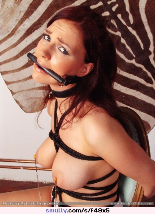 best solo masturbation squirt smut for provocative ebony toy solo squirt #hot brunette #bondage #gagged #gag #nipples #eyesclosed