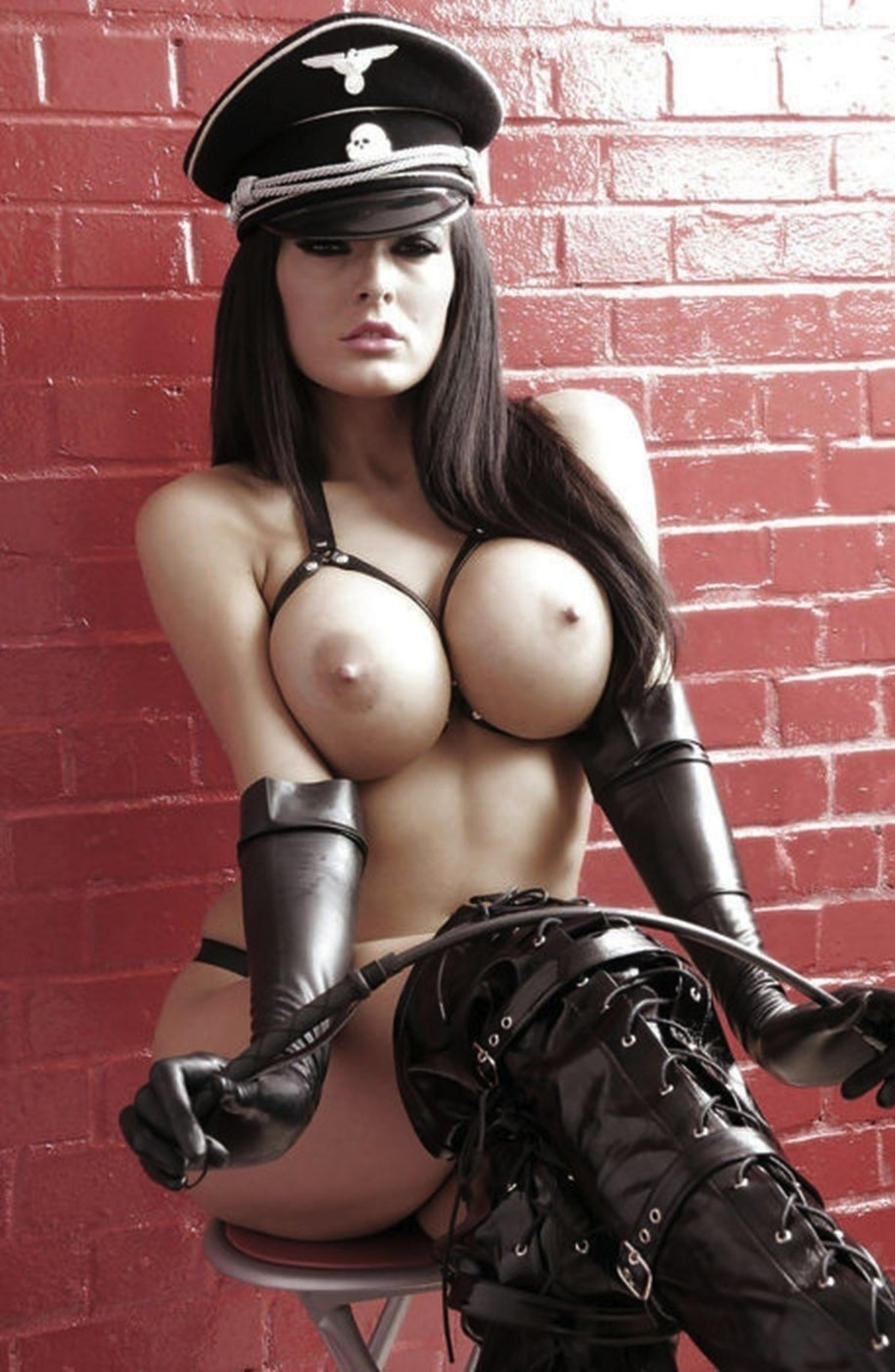 fucked all my sisters friends during sleepover #CharleyAtwell #boobs #boots #dominatrix #gloves #gorgeous #leather #nazi #onepiece #perfectbody #pretty #roundboobs #thighhighboots #whip
